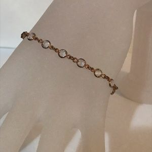 Banana Republic gold and clear stone bracelet